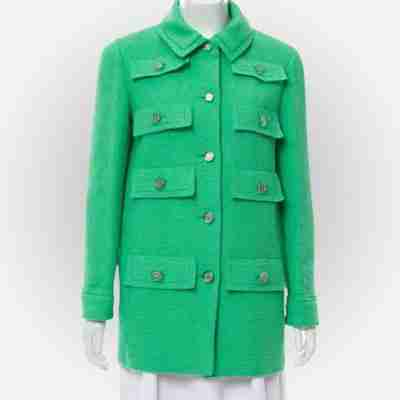 Emily Cooper Emily In Paris Green Multi-Pocket Coat