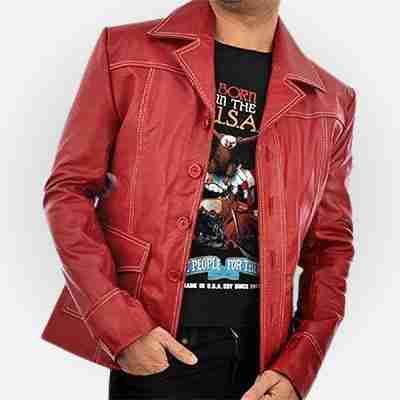 Fight Club Brad Pitt's red leather jacket