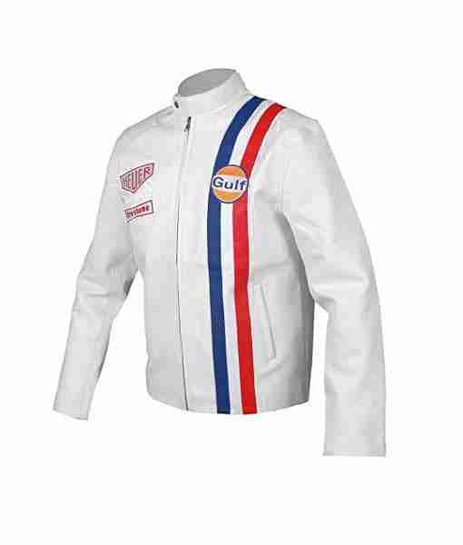 Steve McQueen Le Mans Gulf Racing white jacket
