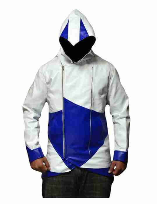 Assassins Creed 3 Blue and White Connor Kenway Jacket