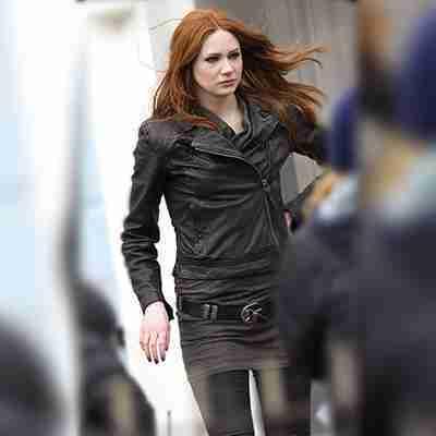 Doctor Who Amy Pond Black Leather Jacket