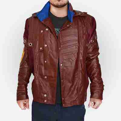 Peter Quill Guardians of The Galaxy Star Lord Leather Jacket