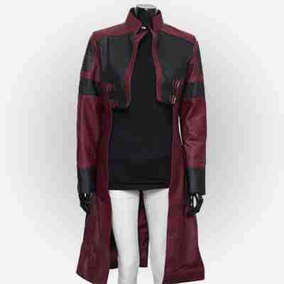 Guardians of the Galaxy Vol 2 Gamora Trench Leather Coat
