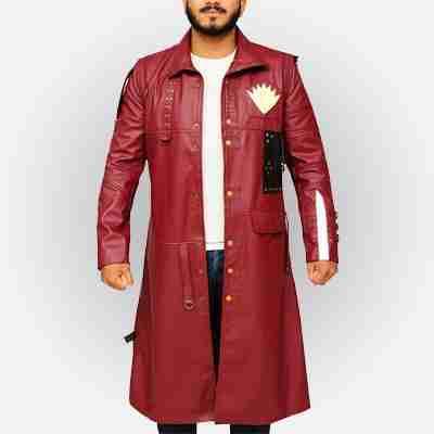 Guardians Of The Galaxy Vol 2 Yondu Maroon Leather Coat