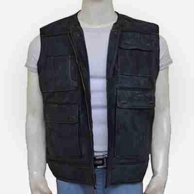 Star Wars Han Solo Black Leather Vest
