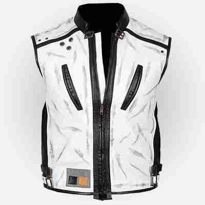 Solo A Star Wars Story White Leather Vest