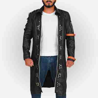 Playerunknown's Battlegrounds Leather Trench Coat
