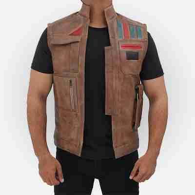 Finn Star Wars Rise of the Skywalker Leather Vest