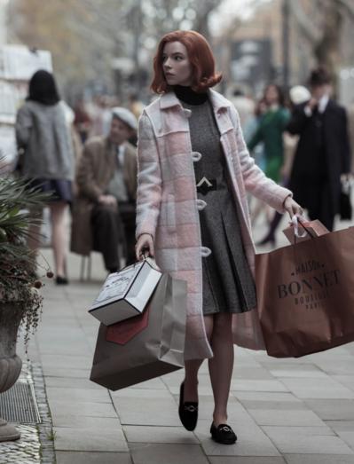 The Queen's Gambit Anya Taylor-Joy Pink Coat