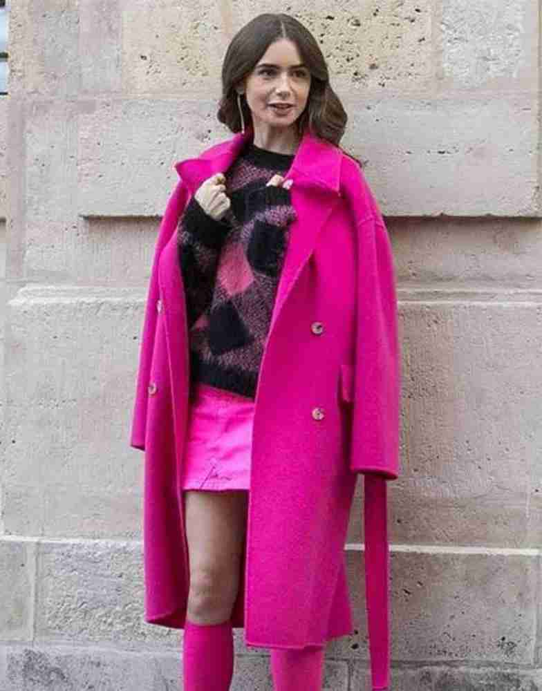 Emily In Paris Lily Collins Pink Coat