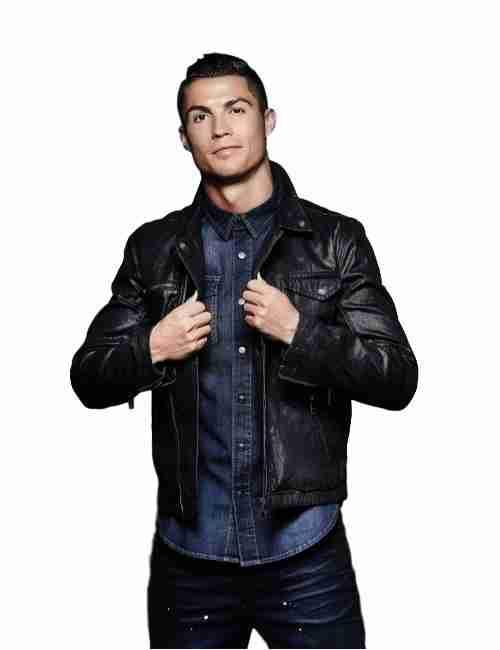 Cristiano Ronaldo Black Jacket Front