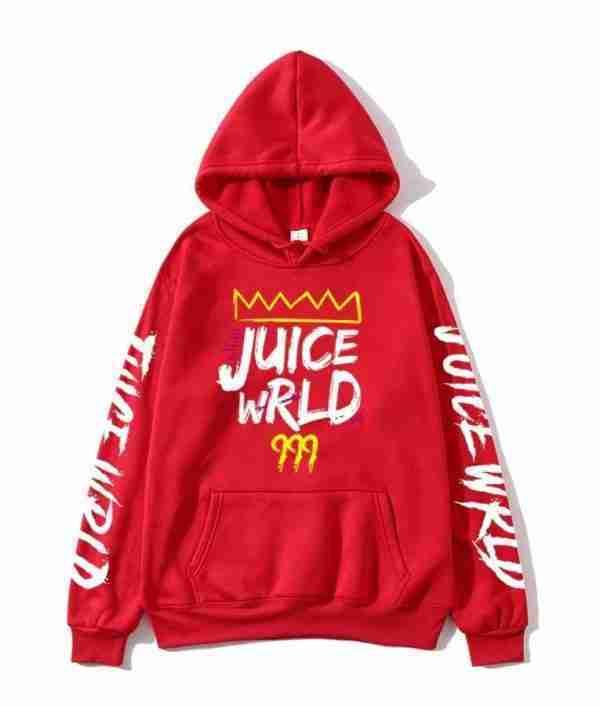 Juice Wrld's 999 hoodie in red