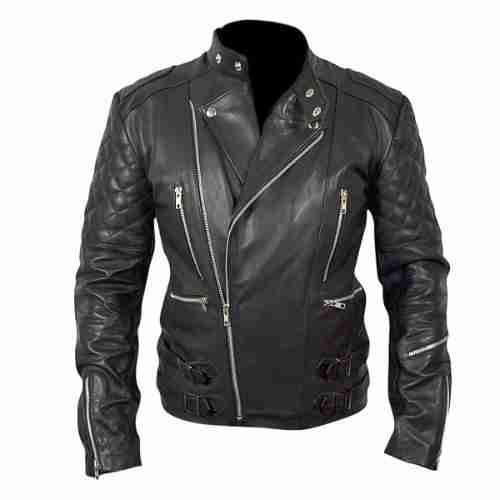 Marlon Brando's slim fit black leather biker jacket