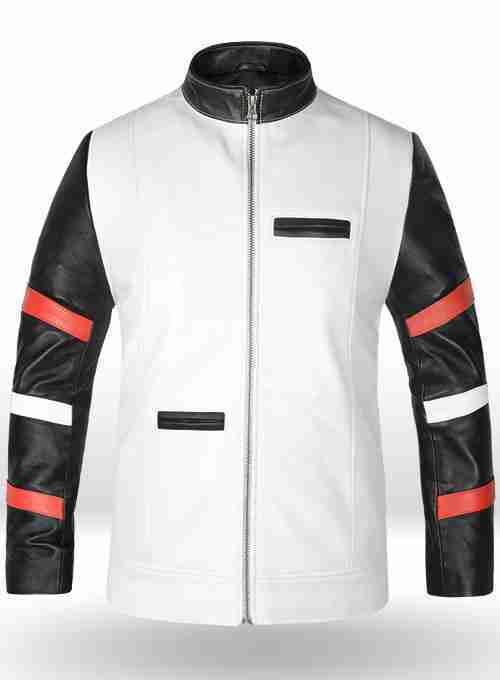Bruce Lee's vintage white leather jacket from The Way Of The Dragon - front