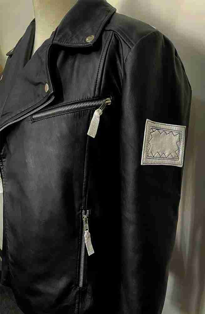 Embroidered shoulder patch of G-Eazy When It's Dark Out leather jacket