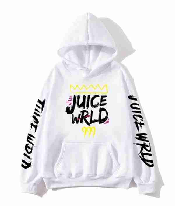 White color variation of Juice Wrld's 999 hoodie