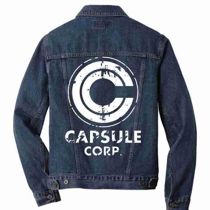Back of capsule corp denim jacket