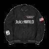 JuiceWrld's 999 Life black bomber jacket front view