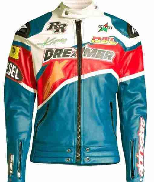 NBA Youngboy's Dreamer biker multi-colored jacket