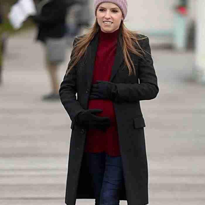 Anna Kendrick Love Life Darby Black Wool-blend Coat