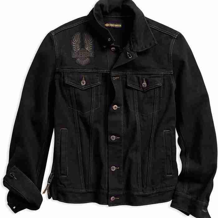 Harley Davidson Black Denim Jacket