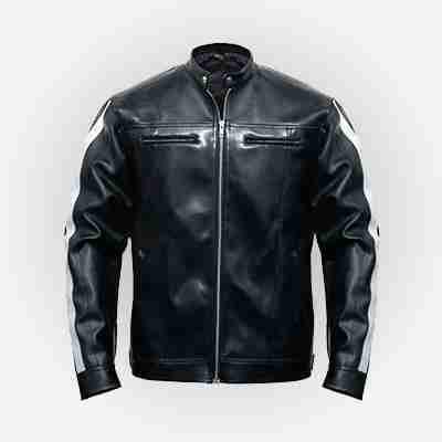 Resident Evil: Vendetta Leon Kennedy's black leather jacket - front