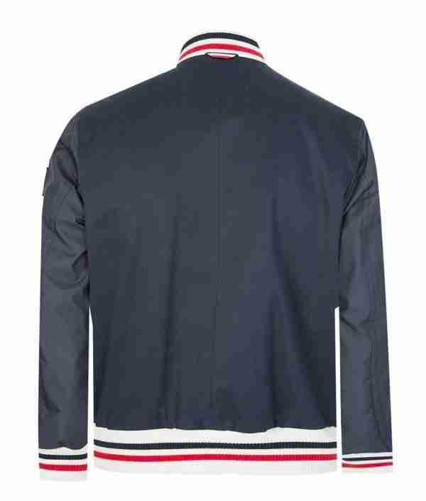 Grey bomber striped jacket of Reggie Mantle from Riverale season 05