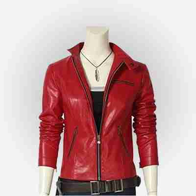 Claire Redfield's red leather jacket from the Resident Evil 2 Remake videogame