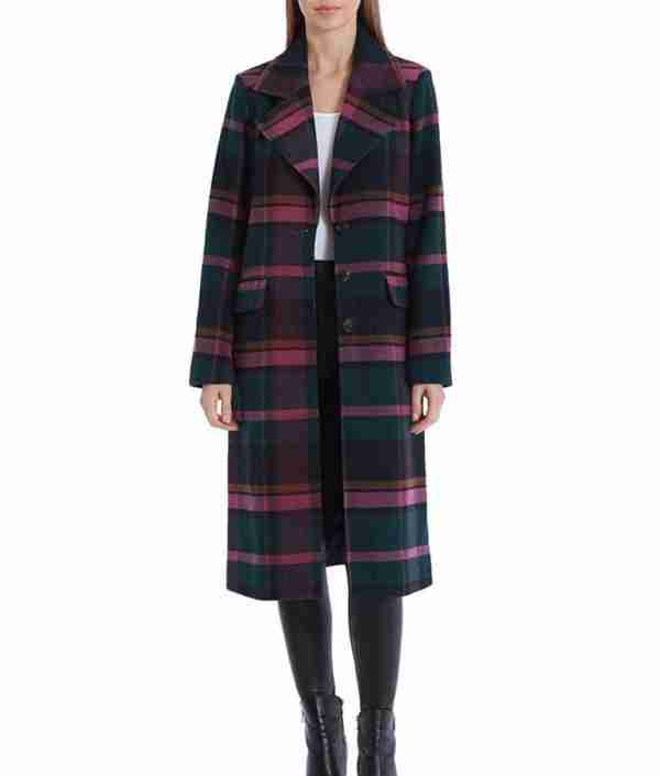 Veronica Lodge's red plaid trench coat - front