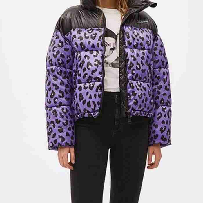 Sara Yang Love Life Leopard Puffer Jacket