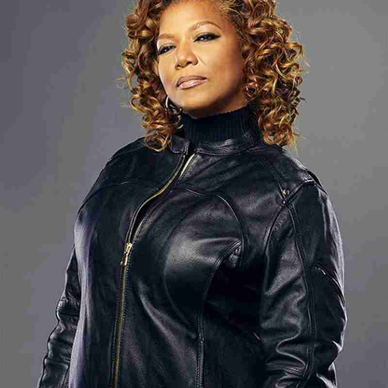 Robyn McCall (Queen Latifah) from The Equalizer 2021 in a black leather racer jacket