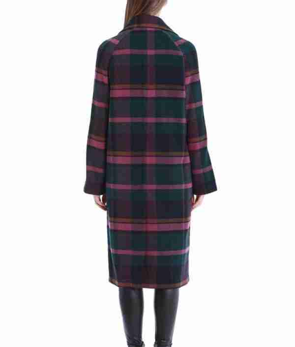 Back of Veronica Lodge's plaid trench coat