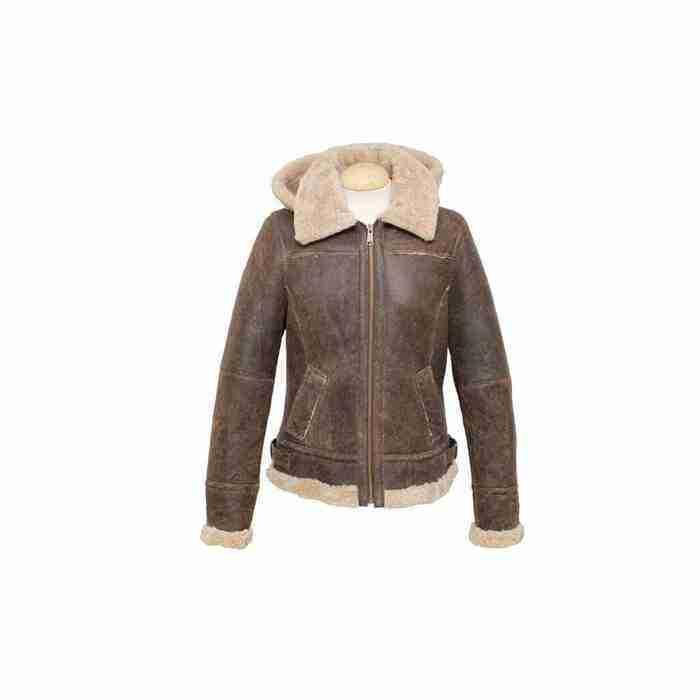 Women Sheepskin Leather Jacket