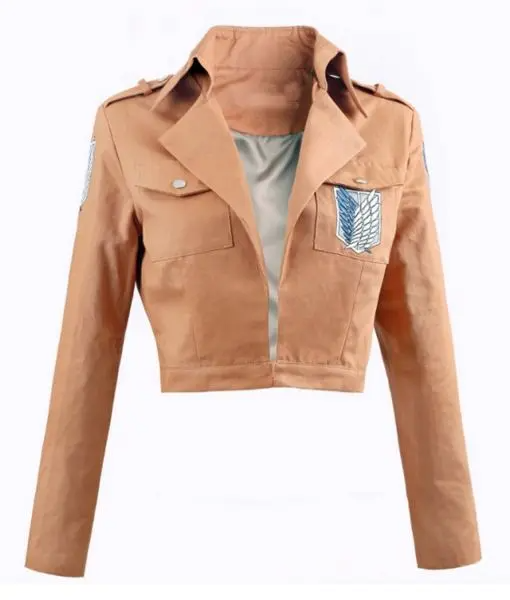Women's Attack On Titan Survey Corps cropped cotton jacket - front