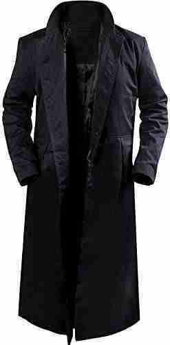 Opened front of Neo's (Keanu Reeves) black trench coat from the Matrix