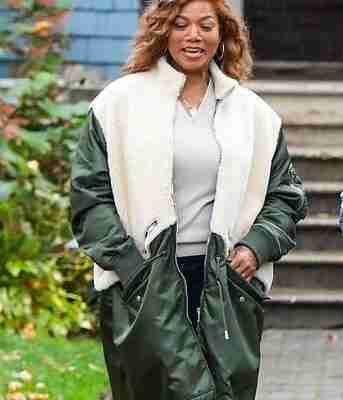 Queen Latifah as Robyn McCall on the set of The Equalizer (2021)