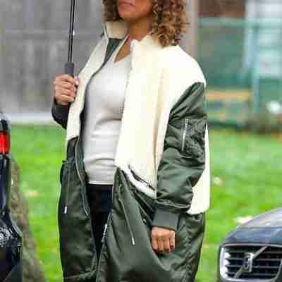Queen Latifah on the set of The Equalizer (2021) as Robyn McCall