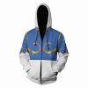 Chun Li's graphic printed hooded jacket - front