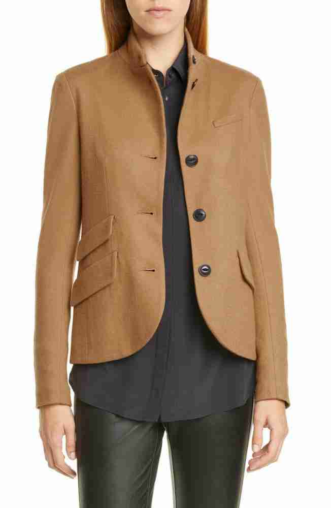 Alina Park tan brown blazer - front
