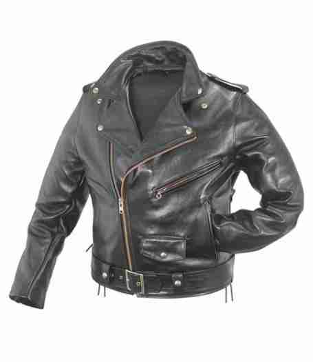 WWE Superstar Triple H black motorcycle leather jacket - front