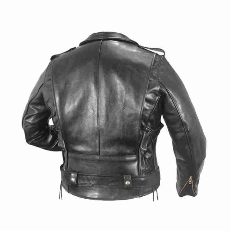 Back of WWE Superstar Triple H's motorcycle leather jacket