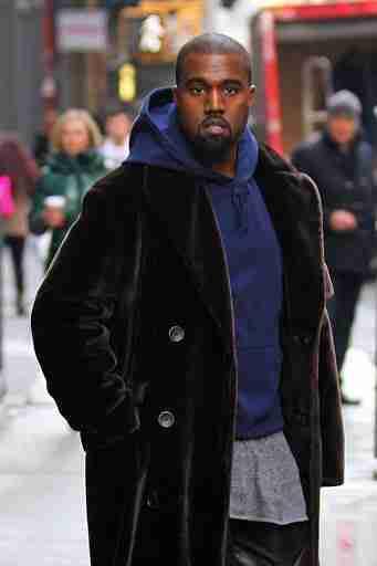 Kanye West Velvet Trench Coat