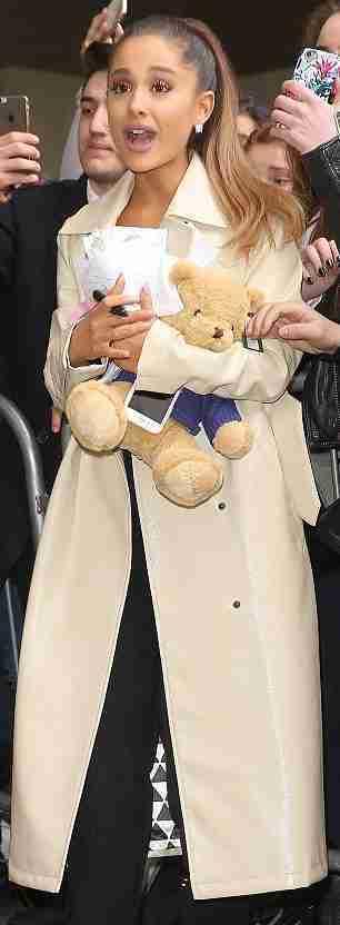 Ariana Grande White Long coat