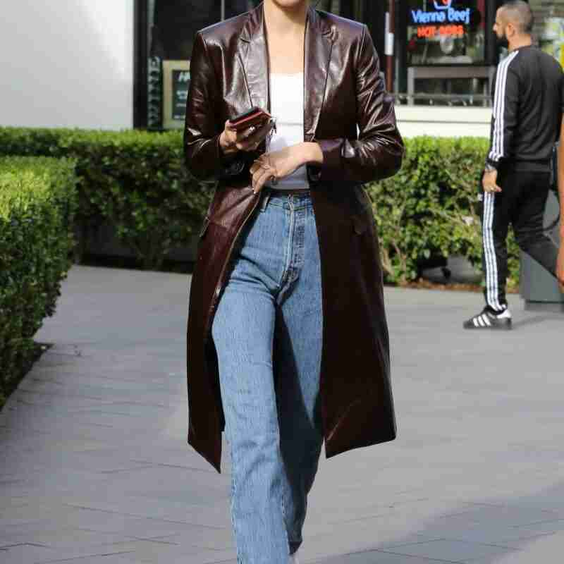 Kendall Jenner Leather Coat