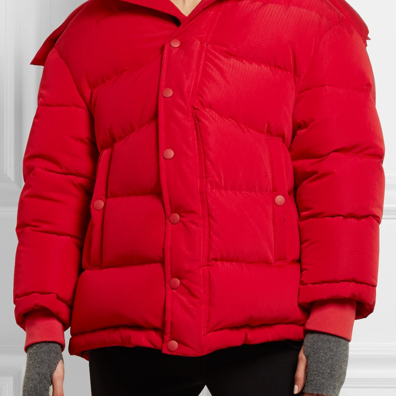 Kendall Nicole Jenner Red Puffer Jacket For Women