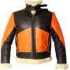 Mens B3 Shearling Sheepskin Orange Jacket