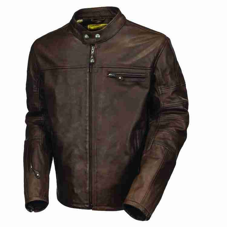 Men's brown Ronin style racer leather jacket