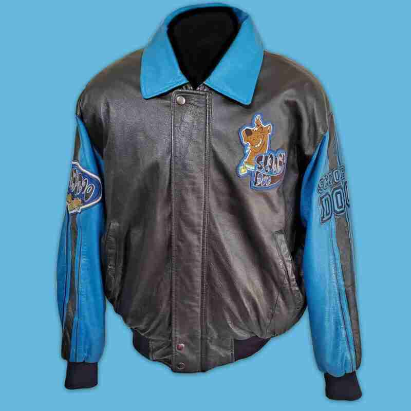 Scooby-Doo Bomber Leather Jacket - front