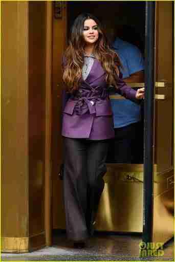 Selena Gomez Purple Blazer