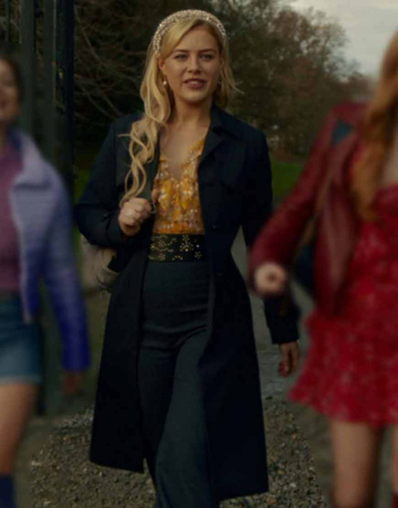 Fate The Winx Saga Stella Black Trench Coat